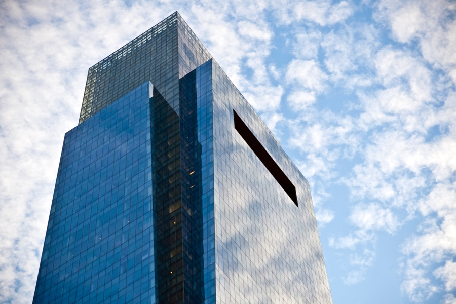 Comcast Center in Philadelphia PA against clouds and a blue sky. andrewhuynh265 | iStock