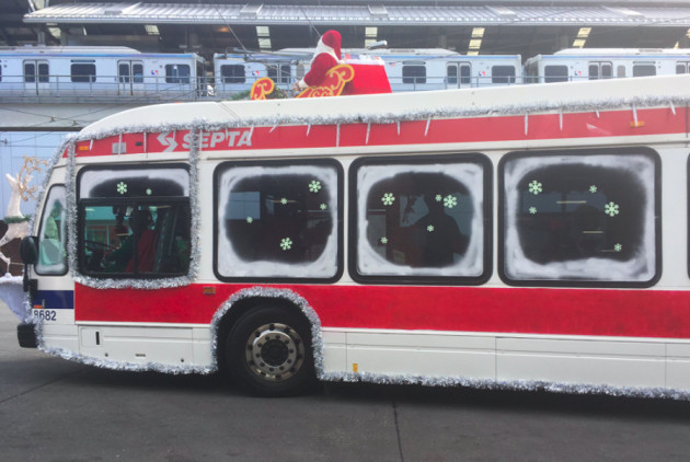 Check Out These Very Merry (and Over-the-Top) SEPTA Holiday Buses