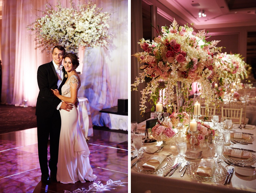 A romantic pink ballroom wedding at philadelphias logan hotel these 8th grade sweethearts married in the most perfect pink wedding at the logan hotel junglespirit Image collections