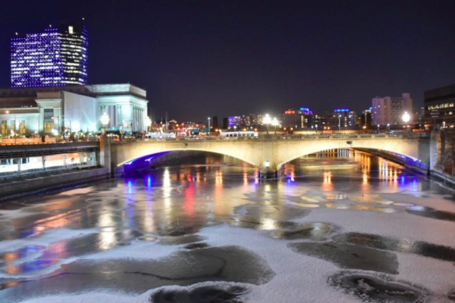 frozen schuylkill river