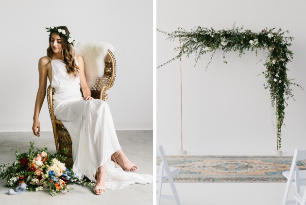 This Minimalist Hipster Wedding Was One of the Coolest We Saw in 2017