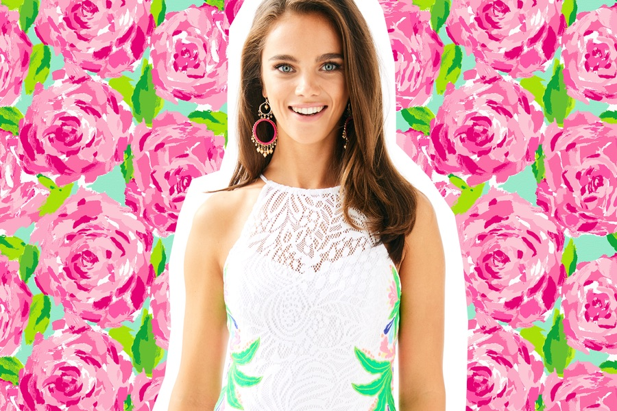 a9d50bb5dc59a7 Lilly Pulitzer White Dress Collection Party at King of Prussia Mall