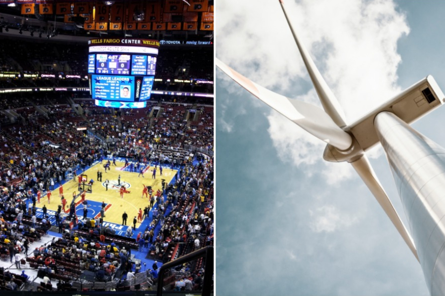 Wells Fargo Center To Switch To 100 Percent Wind Energy