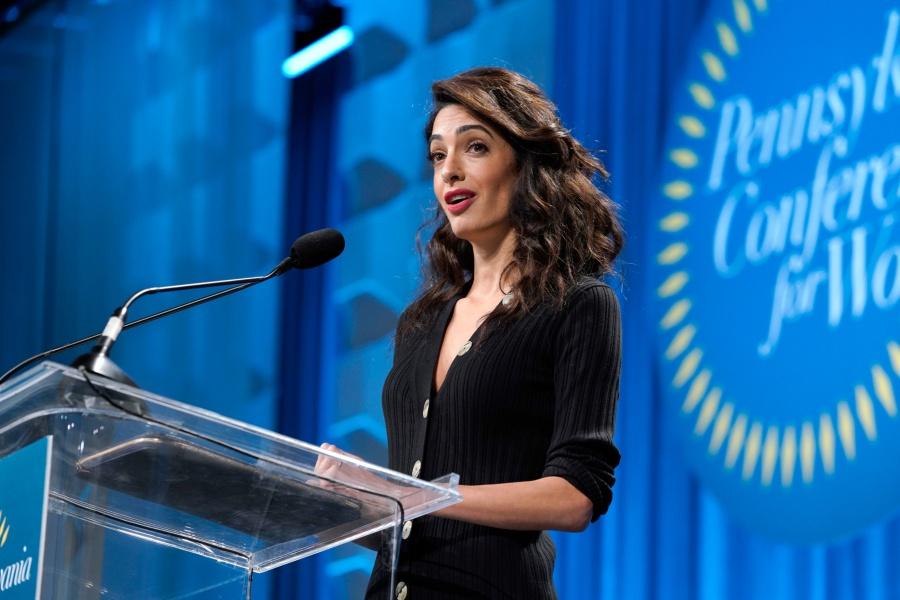 Amal Clooney Chides Trump for Mocking Christine Ford