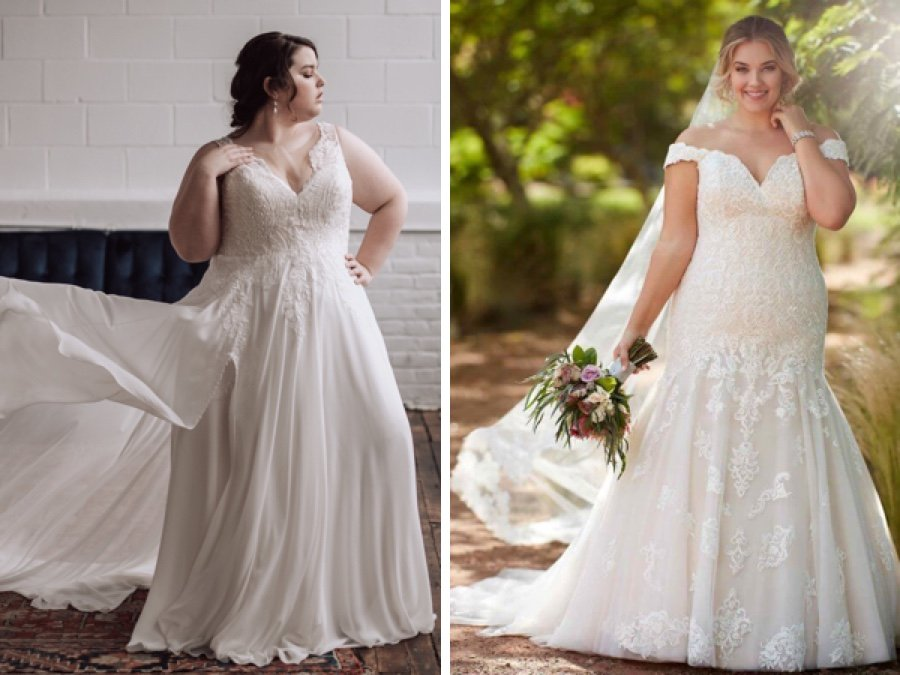The Best Bridal Salons for Plus-Size Wedding Dresses in ...