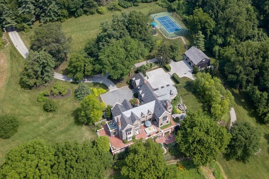 Amazing House For Sale Gladwyne Maple Hill Aerial View