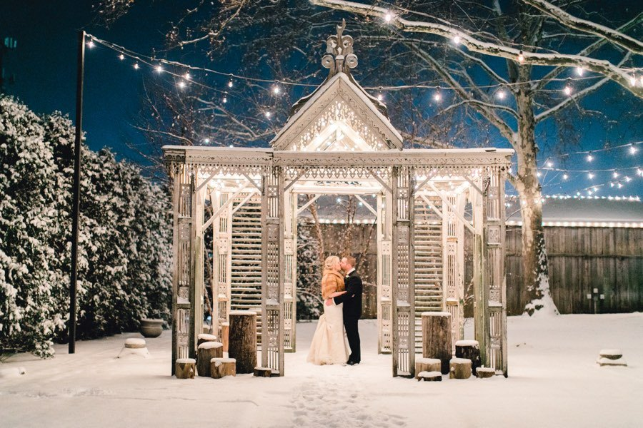 Christmas Wedding.This Christmas Wedding At Terrain At Styer S Couldn T Be Cozier