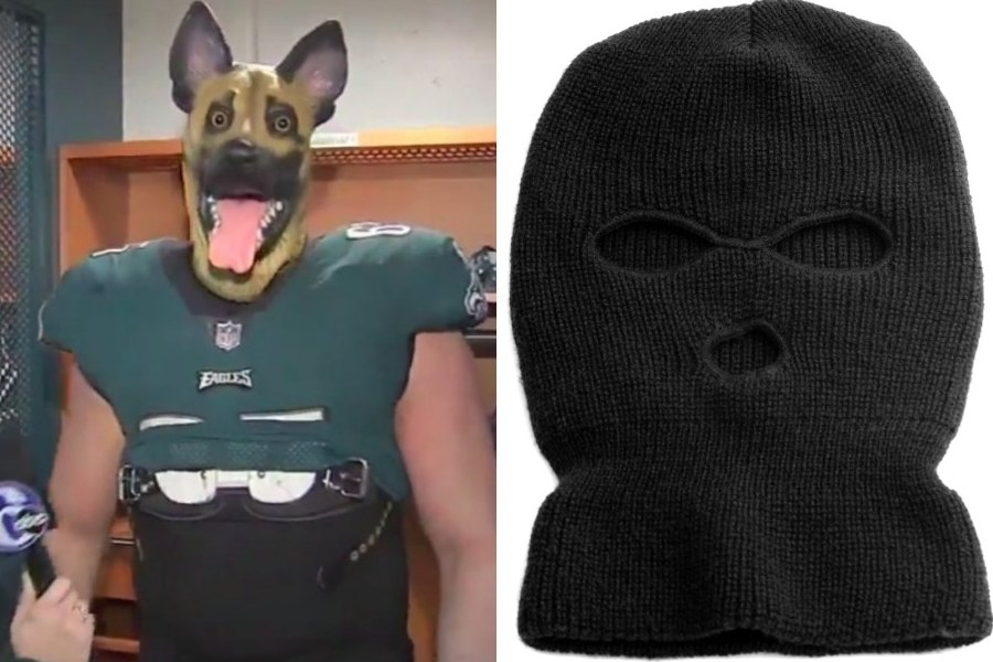 7f6df3543 Ski Mask Season  The Eagles Want You to Replace Your Underdog Mask