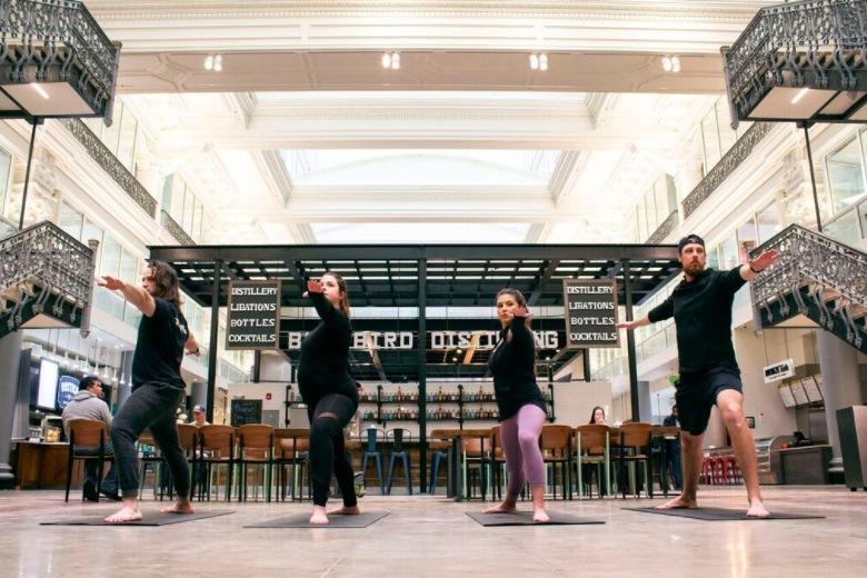 Bourse Free Yoga Series Takes Place Each Saturday in February