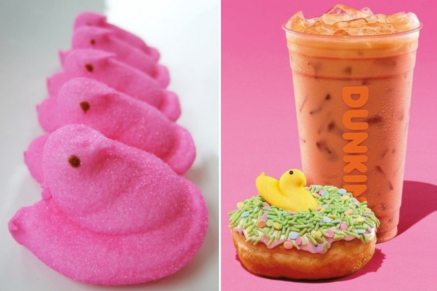 Happy Spring: Peeps-Flavored Coffee and Donuts Are Coming to Dunkin'