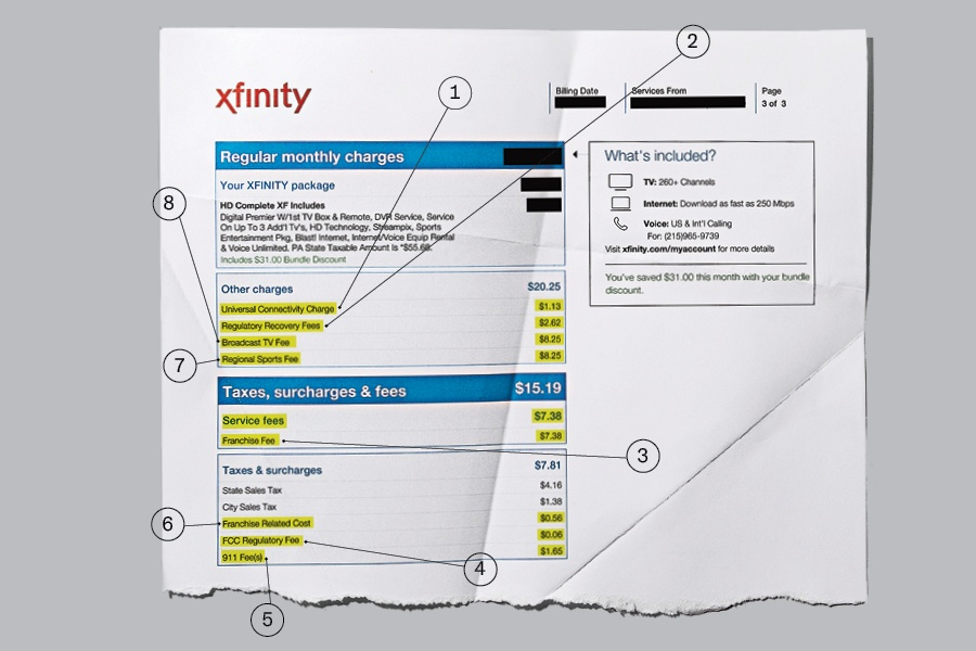All Those Maddening Comcast Bill Fees Explained