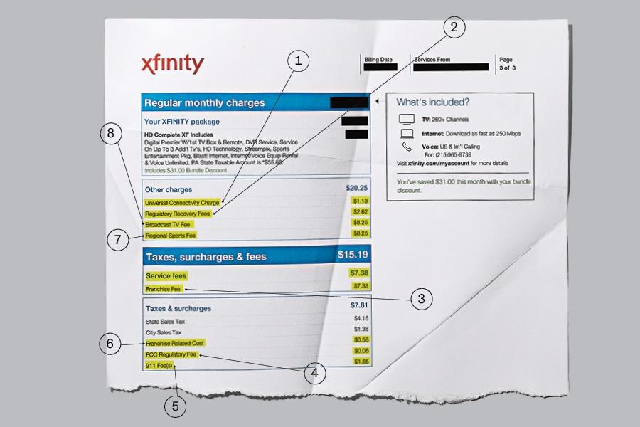 xfinity pay my bill number