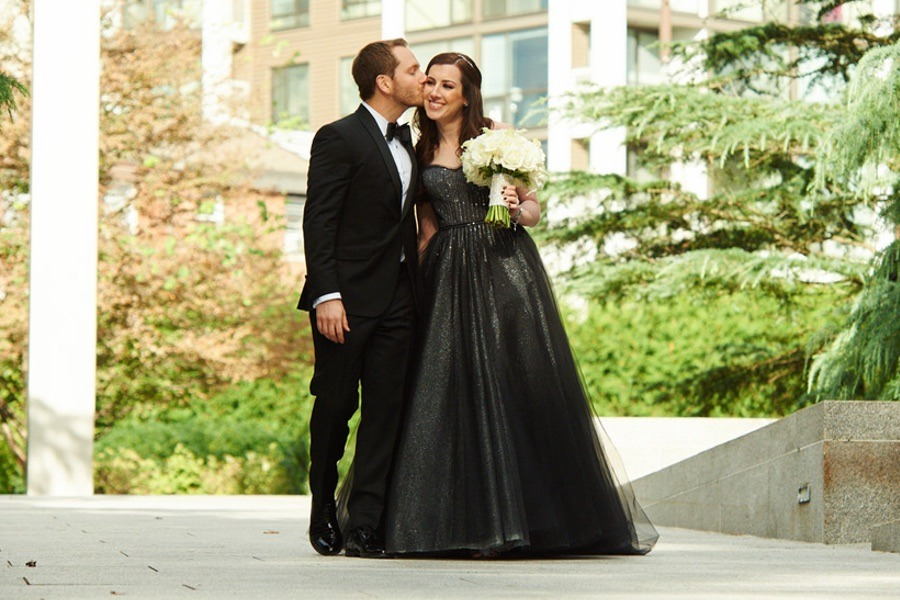This Philly Bride Wore Black to Her Glam Tendenza Wedding