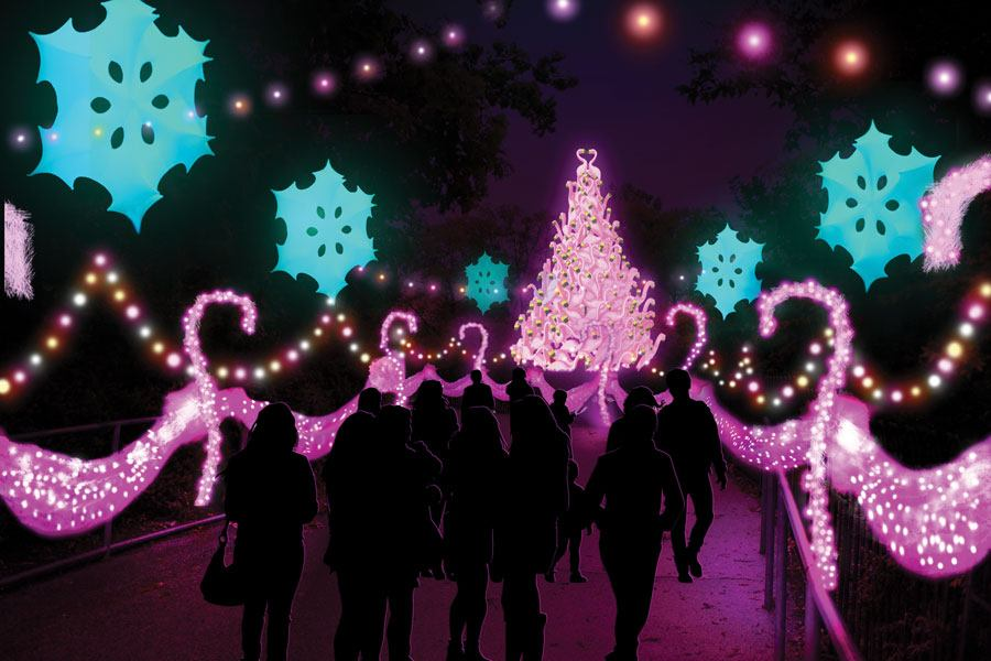Christmas At The Zoo.Holiday Lights Display Luminature To Open At Philadelphia Zoo