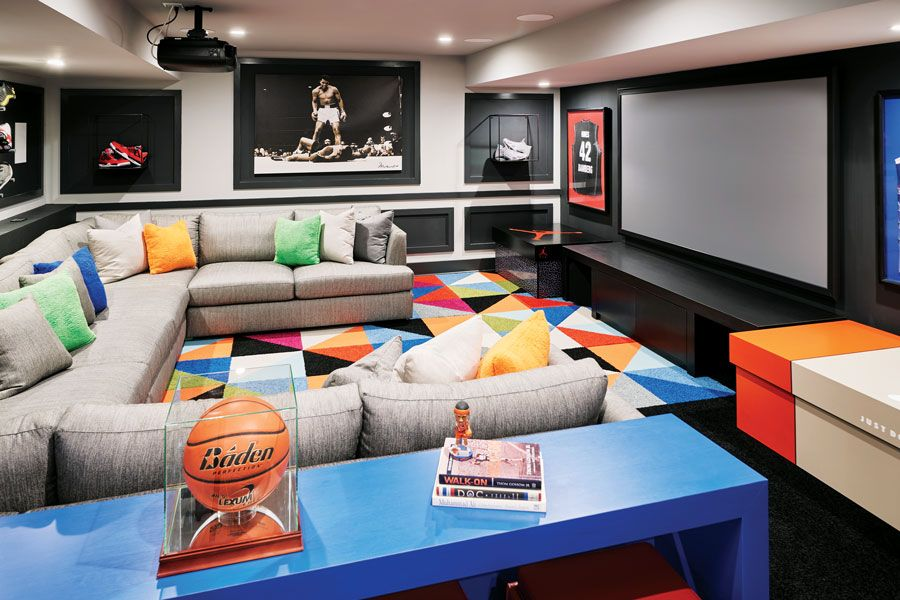 How This Jersey Family Transformed The Basement Into A Hip Man Cave