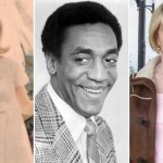 Kristina Ruehli in her 1967 wedding photo (left); Bill Cosby in an uncredited 1969 publicity photo | Wikipedia Commons (middle); Kristina Ruehli today (right)